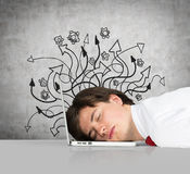Businessman sleep Royalty Free Stock Images