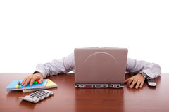 Businessman sleeping Stock Photos