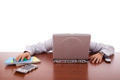 Businessman sleeping Stock Photos