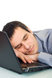 Businessman sleeping Stock Images