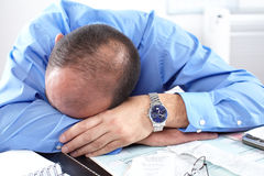 Businessman sleeping Stock Image