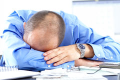 Businessman sleeping Royalty Free Stock Photos