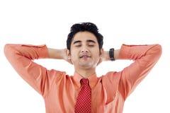 Businessman sleeping Stock Photography