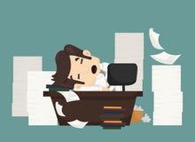 Businessman sleeping Stock Image