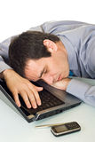 Businessman sleeping Royalty Free Stock Photography