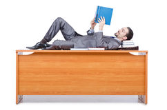Businessman sleeping at  desk Stock Image