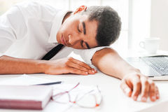 Businessman sleeping. Stock Photography