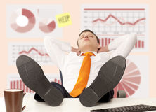 Businessman sleeping at the office Royalty Free Stock Photography