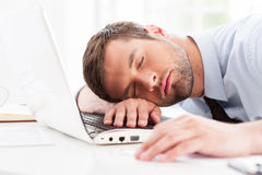 Businessman sleeping. Royalty Free Stock Photos