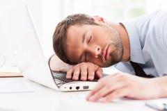 Businessman sleeping. Royalty Free Stock Photos
