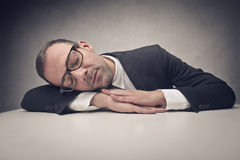 Businessman sleeping Royalty Free Stock Images
