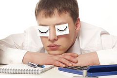 Businessman sleeping Royalty Free Stock Photos