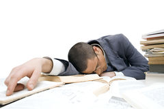 Businessman sleeping Royalty Free Stock Image