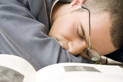 Businessman sleeping Stock Photography