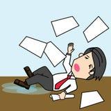 Businessman slip on wet ground Royalty Free Stock Images