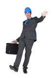 Businessman slipping and falling Royalty Free Stock Photos