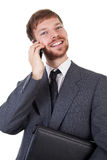 Businessman with smart phone Stock Image