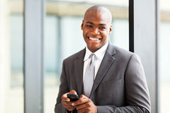 Businessman smart phone Royalty Free Stock Image