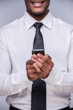 Businessman with smart phone. Stock Photography