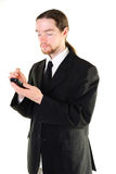 Businessman with a smartphone Stock Photos