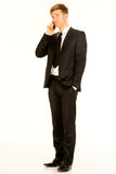 Businessman with smartphone Stock Image
