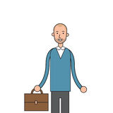 Businessman Smile Hold Briefcase Business Man Casual Royalty Free Stock Photo