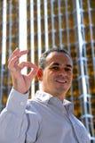 Businessman smile success Royalty Free Stock Image