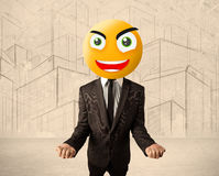 Businessman with smiley face Stock Image