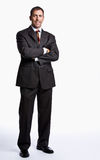 Businessman smiling with arms crossed Royalty Free Stock Image