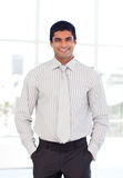 Businessman smiling at the camera Royalty Free Stock Image