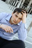 Businessman smokes Royalty Free Stock Photography
