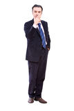 Businessman smoking Stock Images