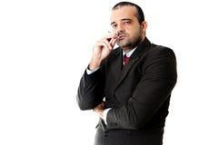 Businessman Smoking Royalty Free Stock Images