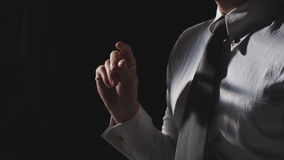 A businessman snap finger Stock Photos