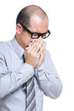 Businessman sneeze Stock Photography