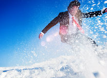 Businessman Snow Boarding Activity Lifestyle Concept Stock Photography