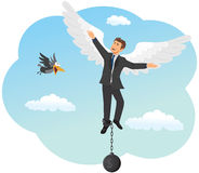 Businessman soars on the wings of success Royalty Free Stock Photos