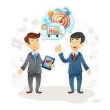 Businessman Social Chat Stock Image