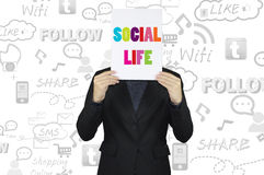 Businessman and social life concept Stock Image