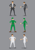 Businessman, Soldier and Male Nurse Vector Icons Stock Images