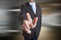 Businessman solution concept Stock Photos