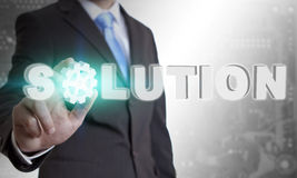 Businessman solution concept Royalty Free Stock Photo