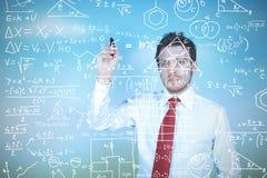 Businessman solves problems Stock Images