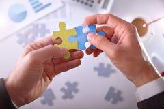 Businessman solving a problem success bussines concept Stock Image