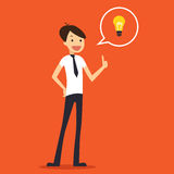 Businessman spark Idea simple illustration Stock Photos