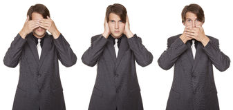 Businessman - speak no evil Stock Photo