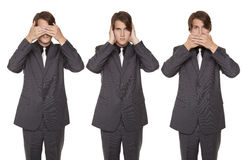 Businessman - speak no evil Stock Photos