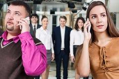 Businessman speak on the phone Stock Images
