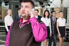 Businessman speak on the phone Stock Photos