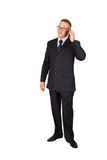 Businessman speaking on the cellphone Royalty Free Stock Photography